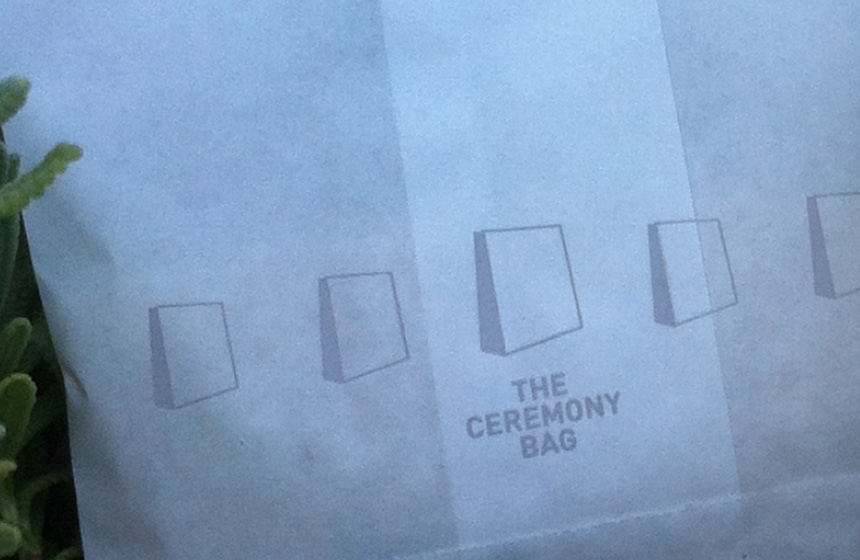 The ceremony bag