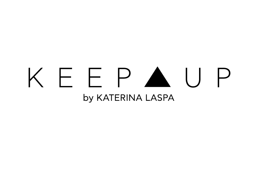 Logo for Keep Up by Katerina Laspa website