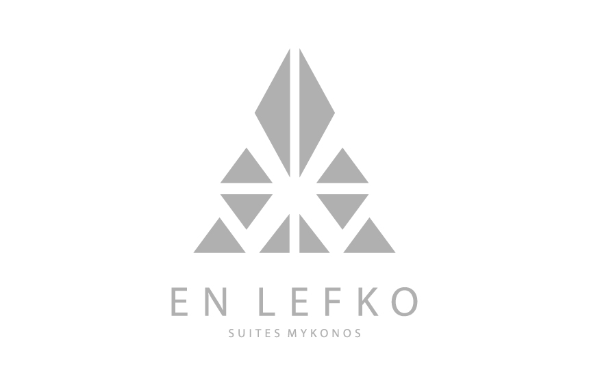 Logo Design for En Lefko Suites at Ornos, Mykonos