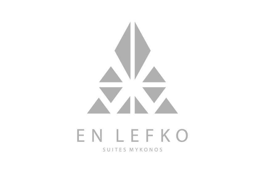 Logo Design for En Lefko Suites at Ornos, Mykonos