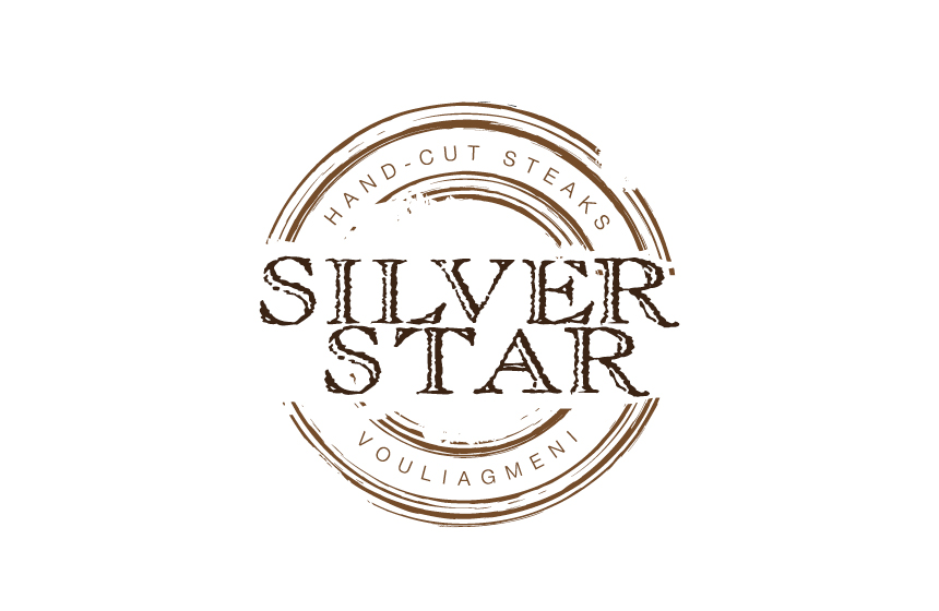 Logo design for Silver Star Steak House at Vouliagmeni, Athens