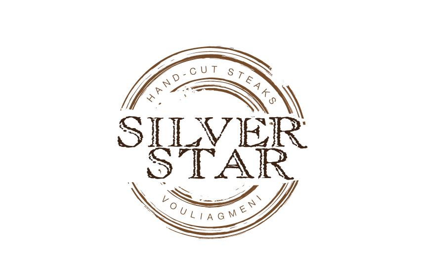Logo design for Silver Star Steak House at Vouliagmeni, Athens
