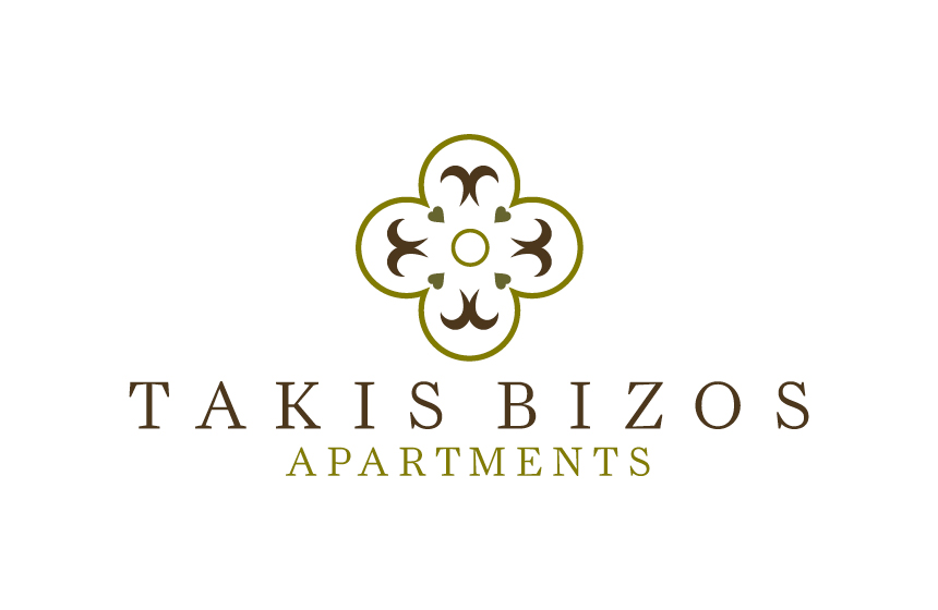 Logo design for Takis Bizos Apartments at Koroni, Greece