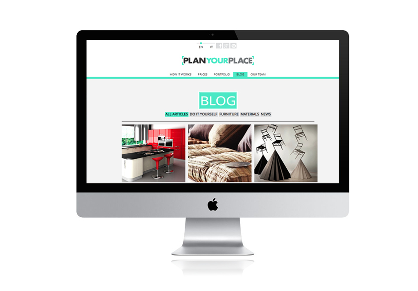 Web design. Blog Page.