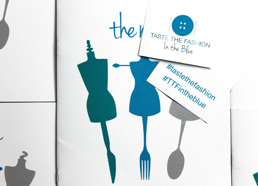taste the fashion menu cover and hashtag