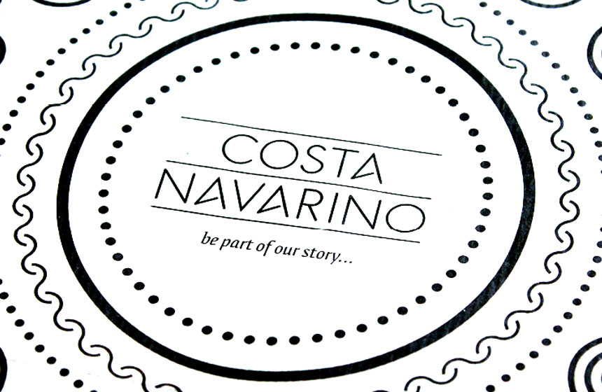 Costa Navarino Typography: Bag Detail