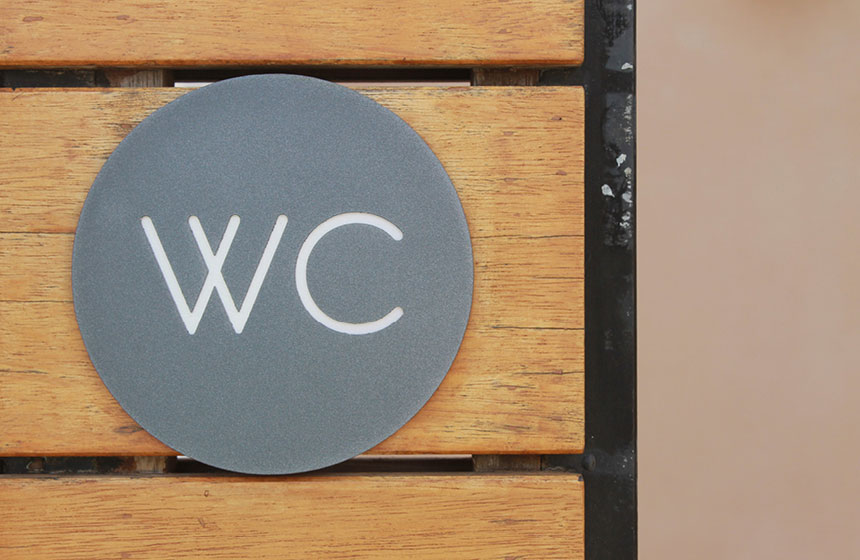 Costa Navarino Typography: WC Sign