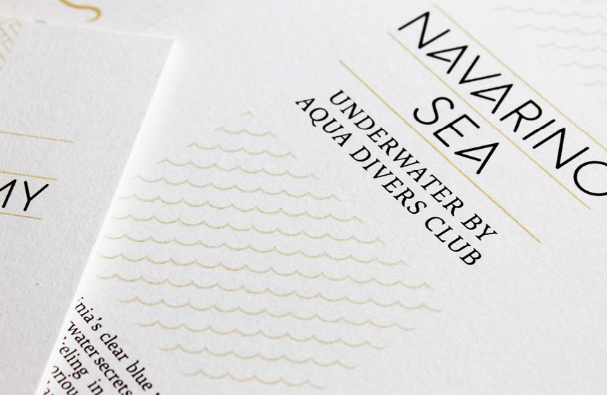 Costa Navarino Typography: Brochure