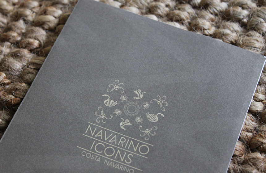 Costa Navarino Typography: Navarino Icons Brochure