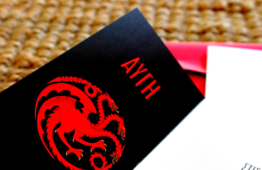 Red Wedding in Athens: Invitation Detail